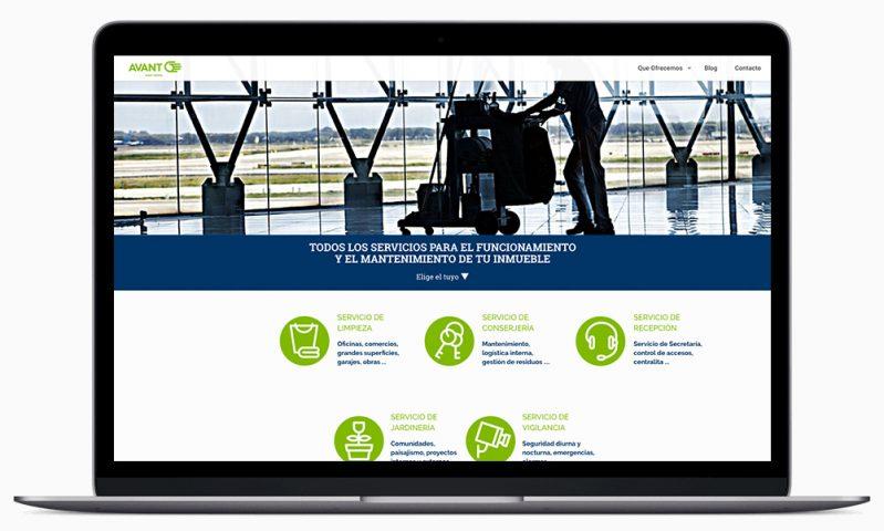 web AVANT Servicios Madrid Facility Services