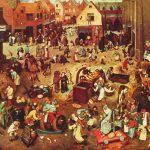 El combate Entre Don Carnaval y Doña Cuaresma de 1559 - Pieter Bruegel el Viejo