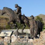 Momumento al Pony Express en Salt Lake City, Utah