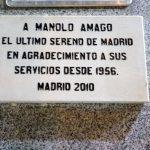Homenaje a Manolo Amago, último sereno de Madrid
