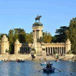 Monumento a Alfonso XII y estanque grande del Parque del Retiro