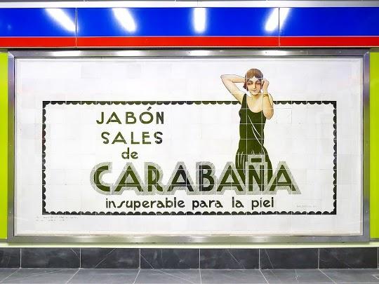 Jabones y sales de Carabaña - Lavado de cara en el metro de Madrid